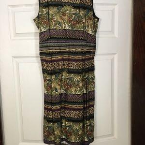 Positive Attitude Dress Sz 14, back zipper/button
